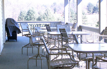 Our deck features a great view of the golf course